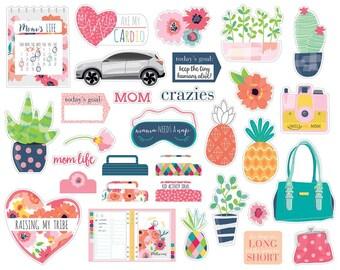 Bella Blvd Mom Life Cardstock Die Cuts Ephemera #MOM1898 - for Planner - Scrapbooking - Cardmaking