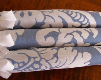 Padded Clothes Hangers, Blue Damask Hangers, Damask Covered Hangers, Damask Hangers, Damask Hanger Set of 3, Blue Damask Covered Hangers