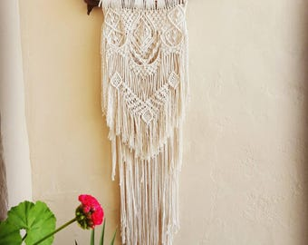Long Macrame Wall Hanging / Wall art / Wall decor / Boho / Fiber Hanging / Wallhanging