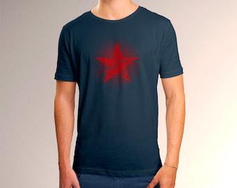 Captain America Inspired Winter Soldier Star Men's T-Shirt