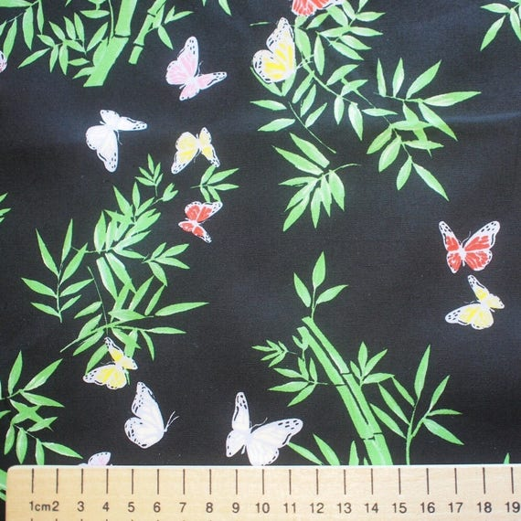 High quality cotton poplin, Japanese black print