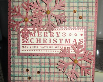 Christmas Card in Burgundy