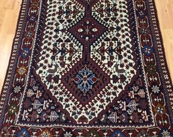 "3' x 5'3"" Persian Yalameh Oriental Rug - Hand Made - 100% Wool"