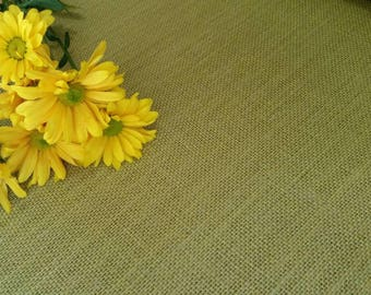 NEW ~ MEADOW GREEN Burlap Fabric By the Yard - 56 - 60 inches wide