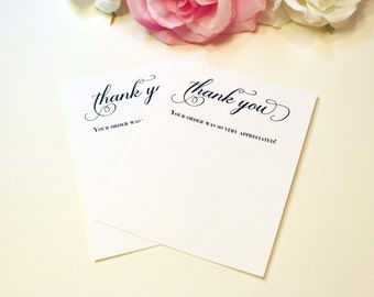 Printable Business Thank You Cards, Pretty Script Note Cards, Thank You Template, Perfect for Business Owners, INSTANT DOWNLOAD PDF