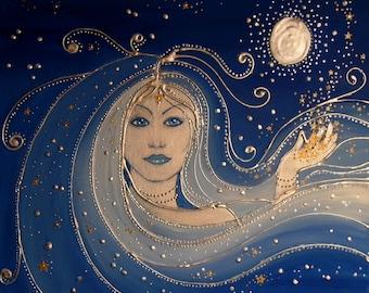 Goddess of Night High Quality Art Print