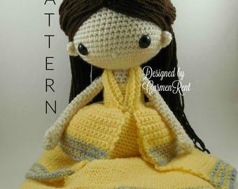 Belle - Amigurumi Doll Crochet Pattern PDF
