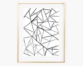 Modern Minimal Print,Black and White Poster,Minimalist Prints,digital Wall art,Printable art,Instant Download,Minimal Wall Decor