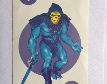 Skeletor greetings card - original 1985 vintage game