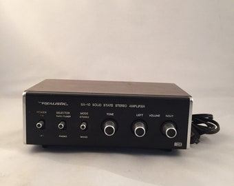 Realistic Radio Shack SA-10 Solid State Stereo Amplifier