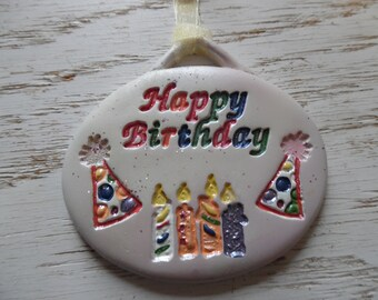 Happy Birthday gift tag and ornament