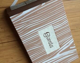 Medium Guest Book - Woodgrain