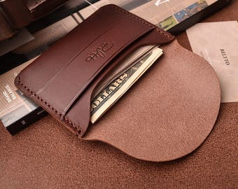 Natural Leather card wallet, Handmade Leather Pouch, card wallet, business card case,