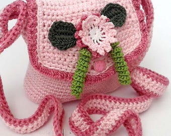 Crochet pattern - Flower girly bag crochet pattern! Permission to sell finished items. Pattern No. 199