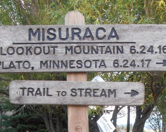 Rustic wedding signs, engagement, family, places, dates, custom signs, hike, souvenir