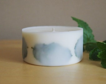 Peppermint Soy Wax Pillar Candle (Small)
