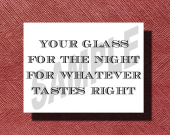 Wedding Reception Mason Jar Drinking Glass Sign