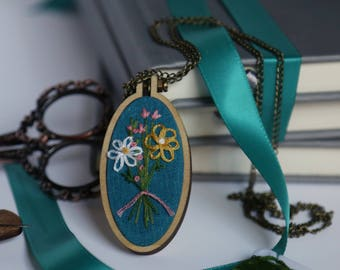 Floral Embroidery Necklace