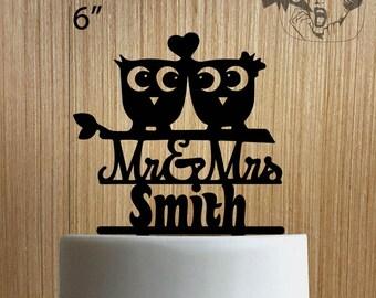 Custom Mr and Mrs 225-063 Cake Topper
