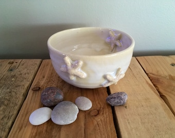 Mini Starfish Bowl in White