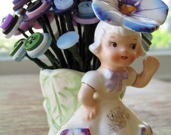 """Vintage Button Bouquet: """"Posey"""""""