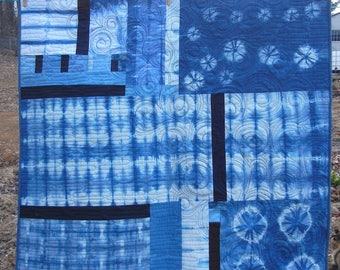 Quilt - Japanese Indigo Hand-Dyed - 47 x 47 -
