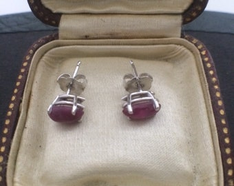 14K White Gold Cabochon Marquise Shape Stud Earrings