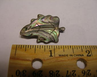 Abalone Leaf Brooch(877)