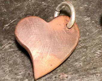 Rustic copper heart