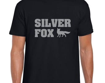 Silver Fox - Mens/Adults Novelty Tshirt - Funny/Joke/Gift/Fancy Dress/Present/Retirement/Leaving Gift/Birthday
