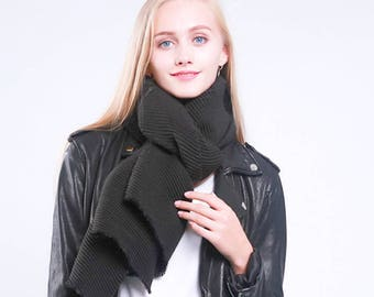Oversized Black Winter Scarf for Women Pleated Scarf Blanket Scarf Wraps Shawls Warm Winter Scarf Scarves for Women Mother Bridesmaids Gift