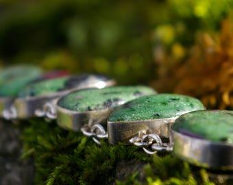 Bracelet Ruby zoizite, promotes astral travel