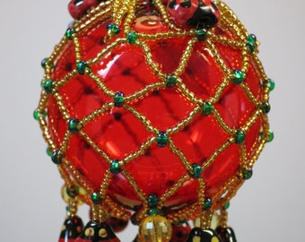 020. Beaded Ornament Cover