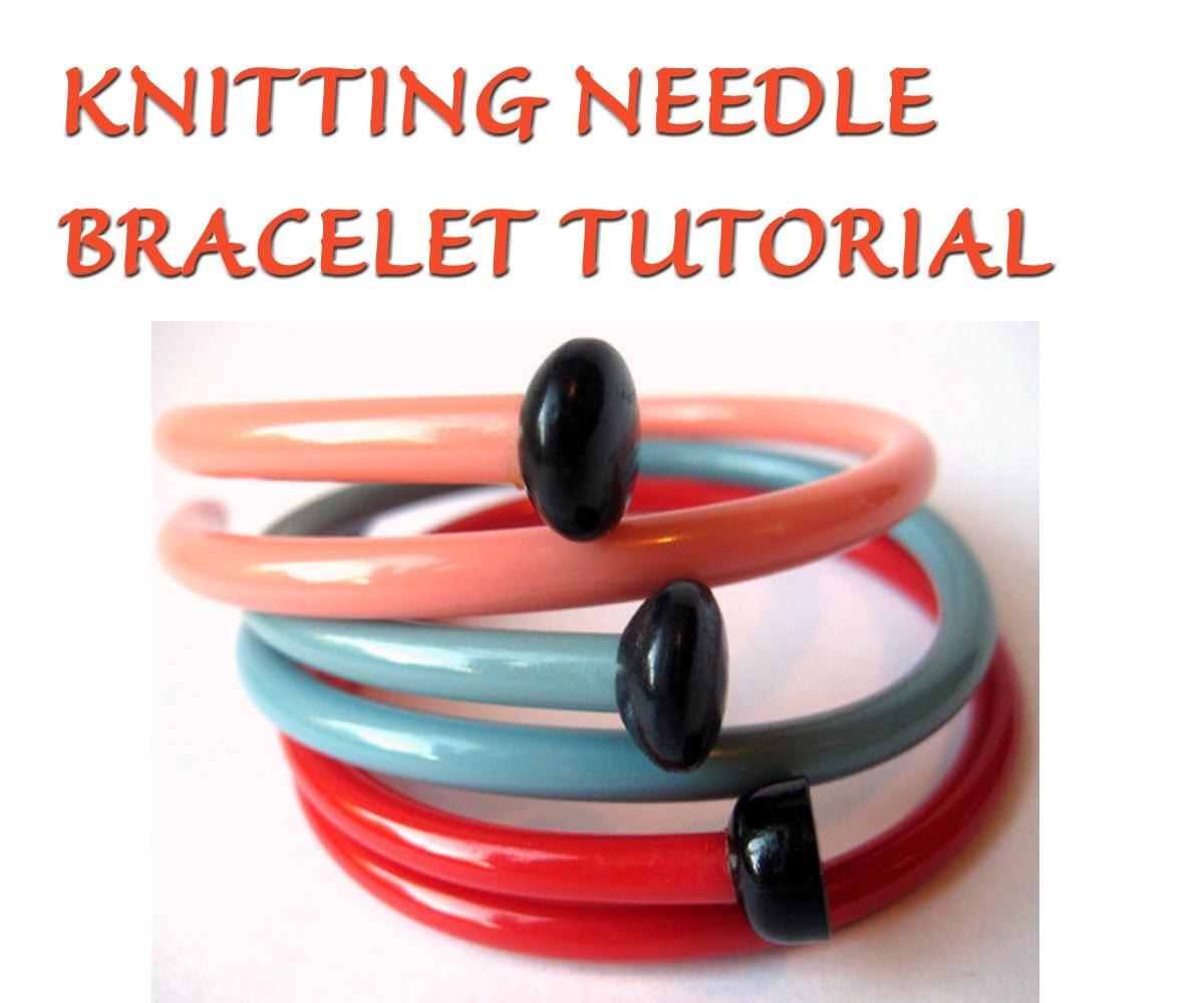 DIY Vintage Knitting Needle Bracelets Tutorial SewNewThings