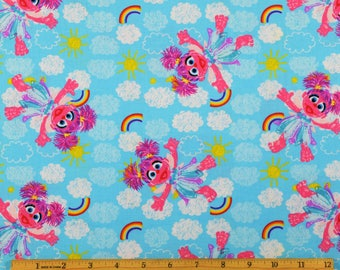 Sesame Street Fabric Abbie Cadabby Fabric From SPX 100% Cotton
