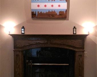Chicago Flag Wood Art
