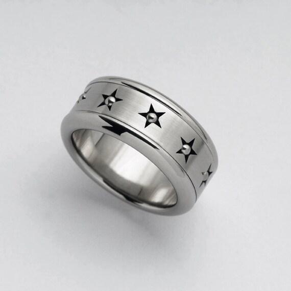 mens spinner ring stars ring spinner ring for women. Black Bedroom Furniture Sets. Home Design Ideas