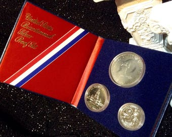 United States Bicentenial Silver Proof 3 pc. Set 1776-1976