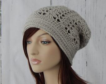 Lacy crochet hat etsy crochet pattern pdf the lacy slouch beanie slouchy hat winter hats ladies dt1010fo