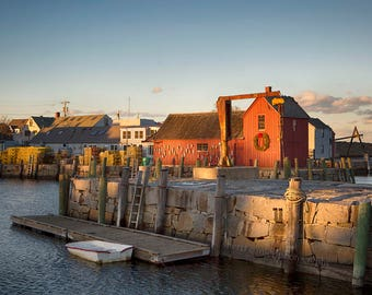Photographie de Rockport, rouge homard Shack, impression ou la toile, MA Massachusetts, Nouvelle-Angleterre NE Decor, village de pêcheurs, Art nautique - Motif n ° 1