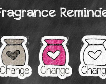 Large Fragrance reminder stickers are perfect for Happy Planner, Kikkik, Erin Condren Life Planner, Plum Paper, Filofax or any other planner