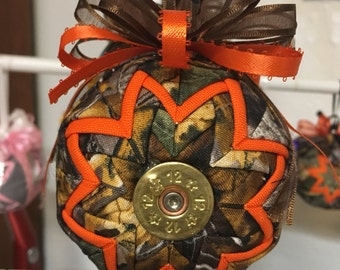 Camouflage shot gun shell ornament