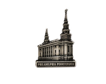Philadelphia Pennsylvania Temple pin silver or gold finish Lapel pin