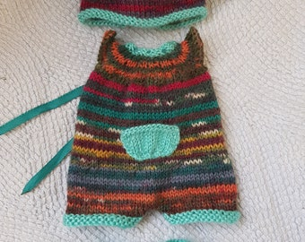 "Hand Knitted Dolls Clothes for  6"" full body silicone Baby Boy Doll(# 0042)"