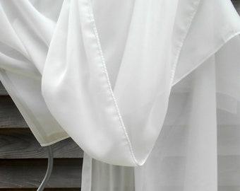 Festival Shawl,Chiffon Shawl,SNOW White Chiffon,White Shawl,Wedding shawl,  Wedding Wrap,White wedding Scarf,Bridesmaid Gift,Wedding Shawl