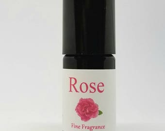 Rose Roll On All Natural Organic Perfume Bulgarian Rose Absolute, Madagascar Vanilla Bean CO2, Sandalwood oil, Blood orange and Jojoba Oil