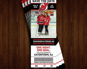 New Jersey Devils Save the Date Ticket
