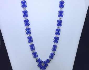 Bow Tie Necklace - Sapphire
