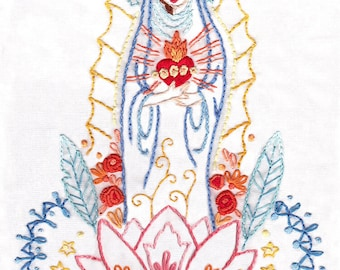 DIY Our Lady Embroidery pattern PDF download hand embroidery patterns designs