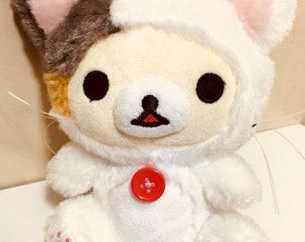 Japanese Rulakkuma Cat's Korilakkuma Stuffed White